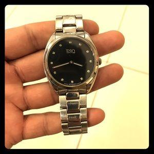 ESQ by Movado watch silver with diamond 💎